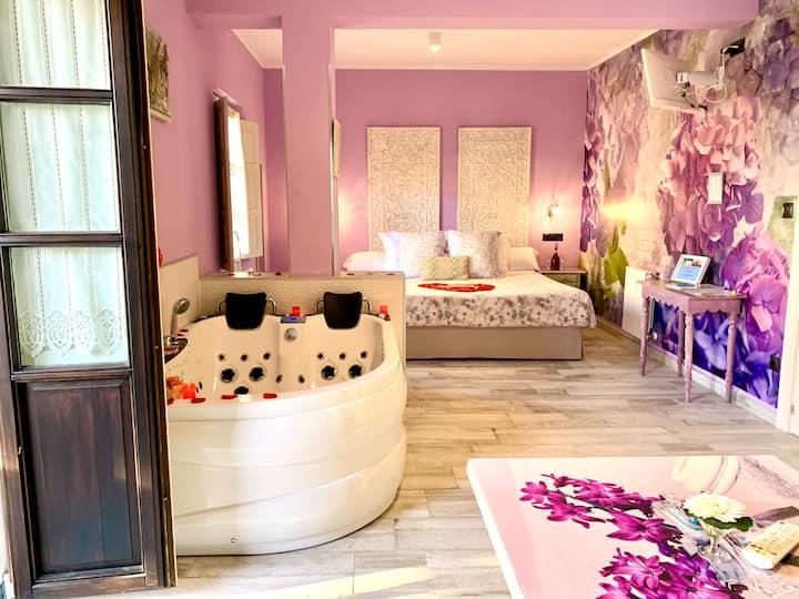 Suite cama extragrande, terraza y jacuzzi