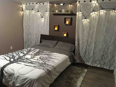 Basement suite.  Massage therapy available