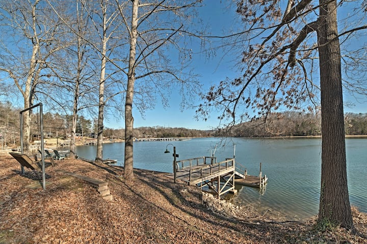 Lakefront Harrison Home w/ Sunroom, Deck, & Dock!