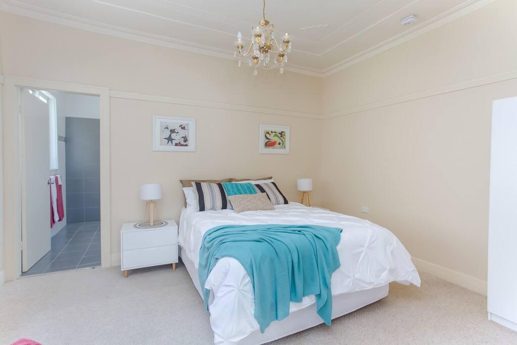 Ensuited bedroom with queen bed