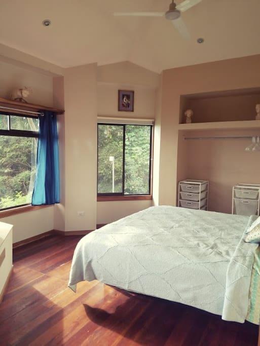 Master bedroom - lots of natural light and beautiful views!