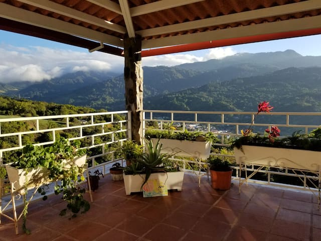 Breathtaking view, cozy abode and abundant nature