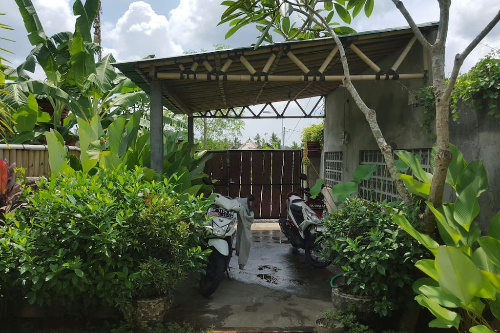 Our private parking area