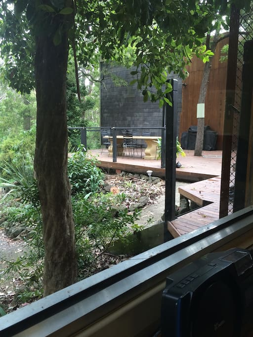 The view from the loungeroom window.