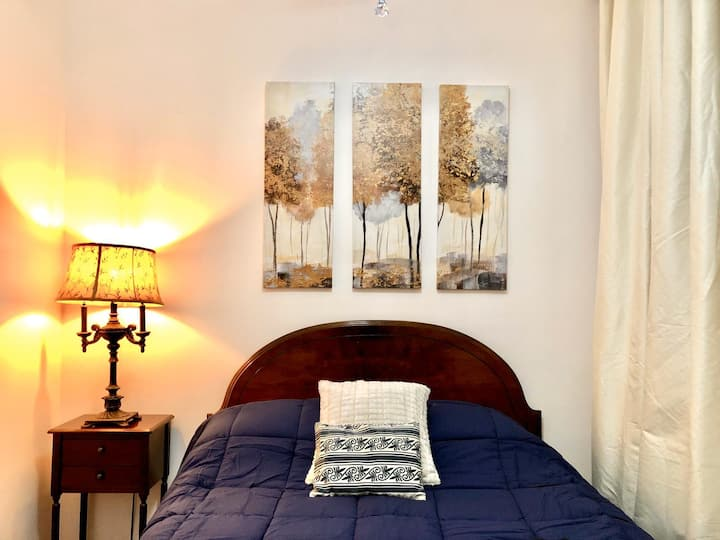 Two bedroom garden apartment min from New York.