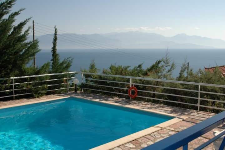 Villa Efterpe,Sea View,Private Pool.EOT licensed.