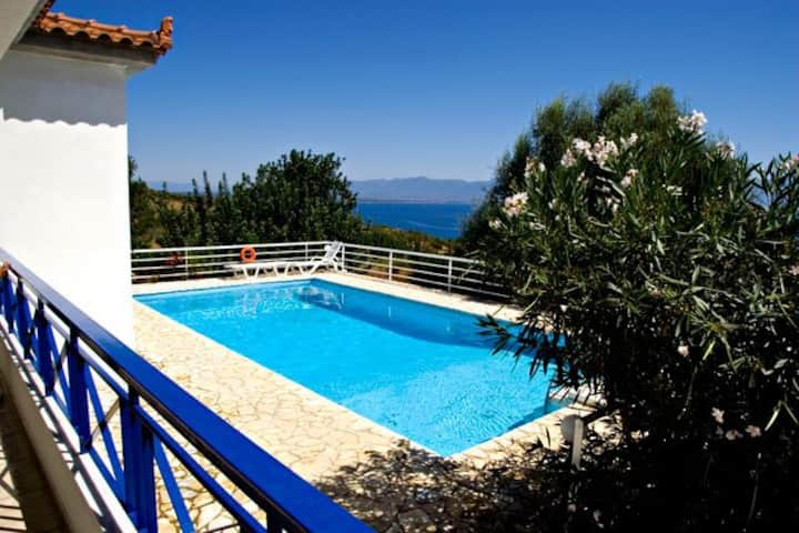 Villa Calliope,private pool,sea view.EOT licensed.