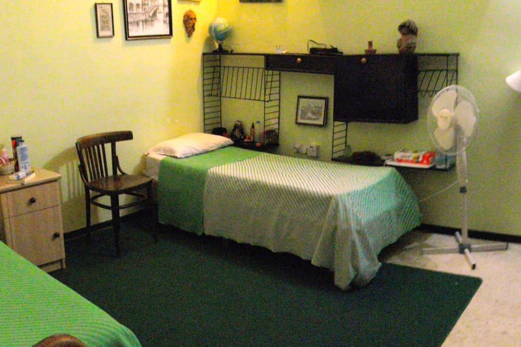 Room 1 of 3, twin or double bed arrangements