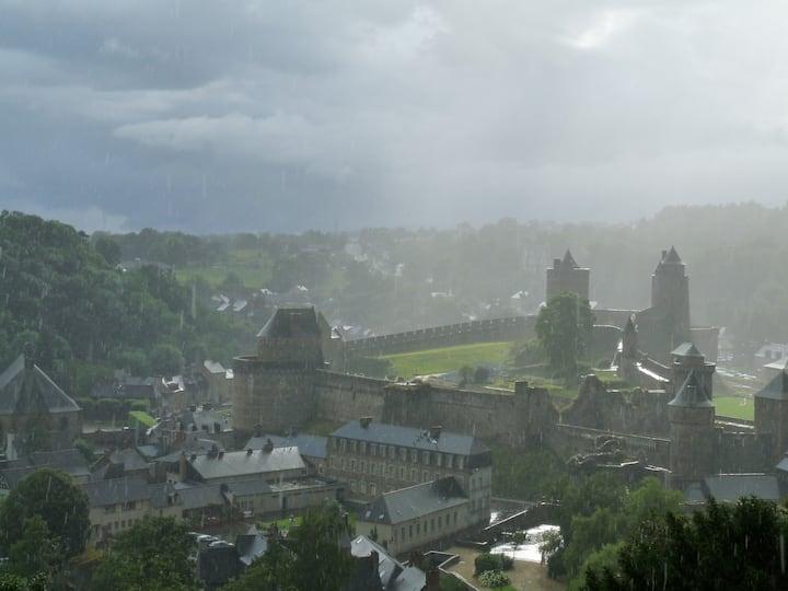 Suite à la vue unique sur le château !