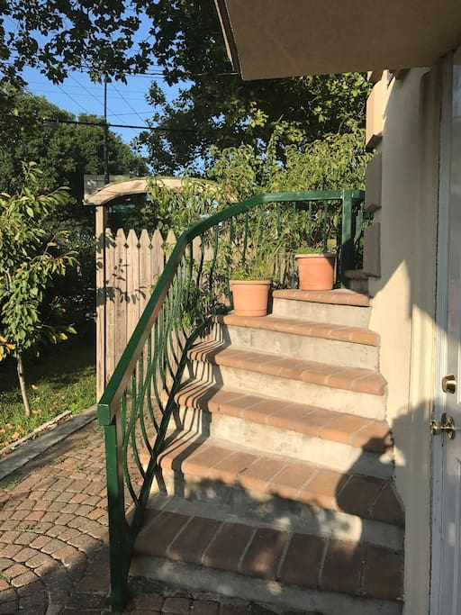 Stairs leading to entrance of the apartment