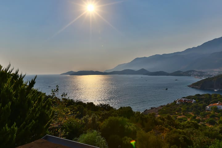 Best sea and sunset view in Kas 4px