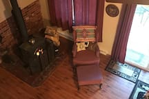 wood stove off living room
