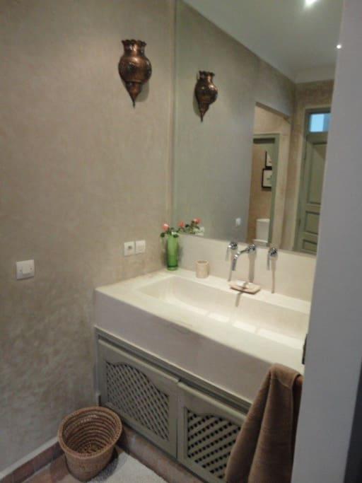 double basin in chambre bronze