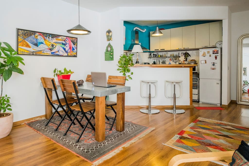 Dinning room and completely equipped Kitchen