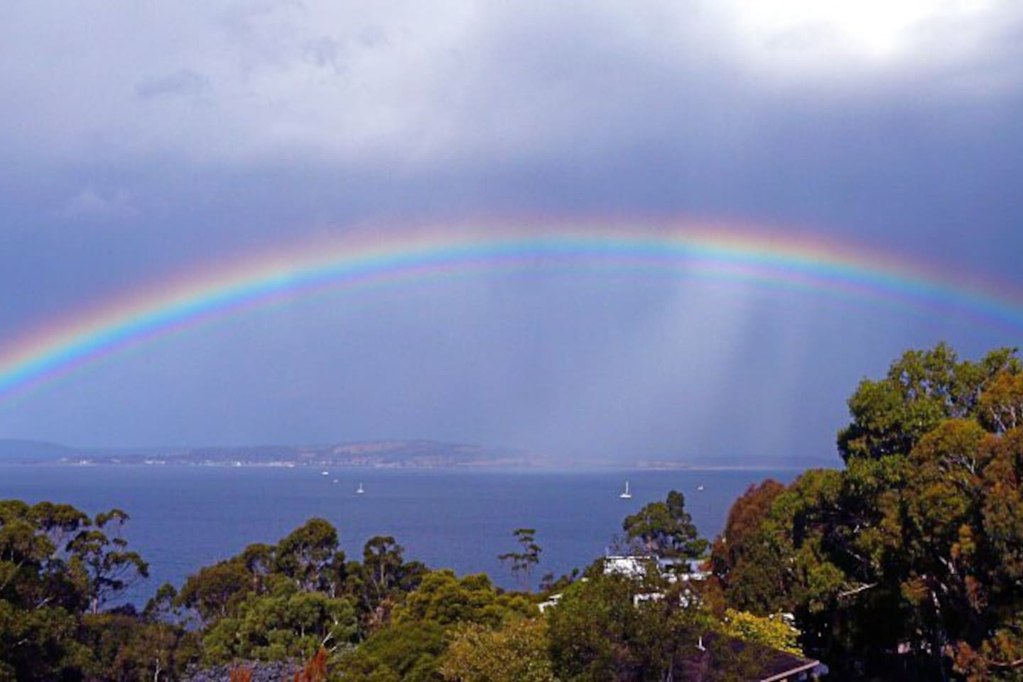 You might catch a rainbow on one of our beautiful summers day from the balcony