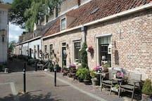 Street in Elburg 12 km from Hoophuizen