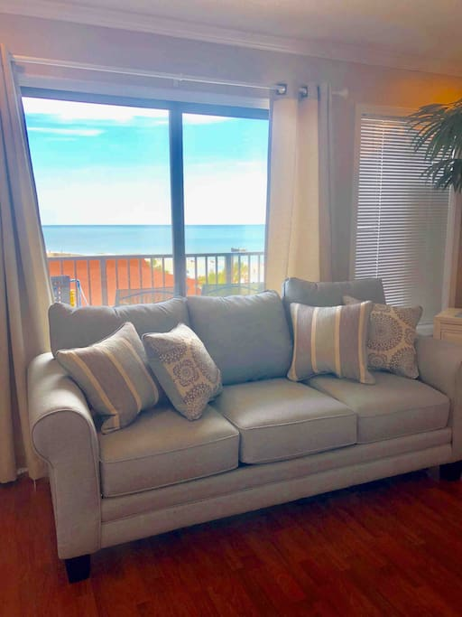 Gorgeous view of the Ocean from INSIDE the condo!