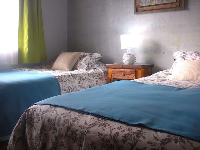 2 twin size beds./ ...  2 camas de 1 plaza y media