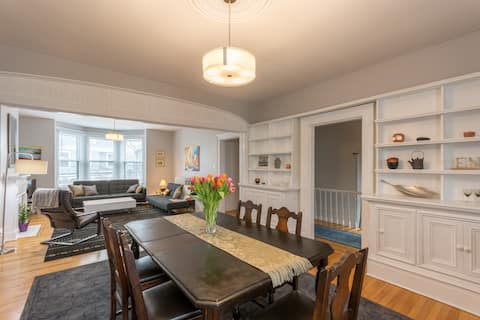 Open concept living + dining