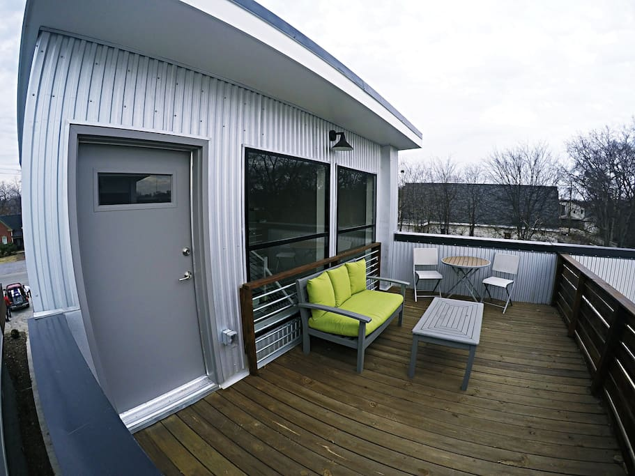 Relax and enjoy this rooftop deck