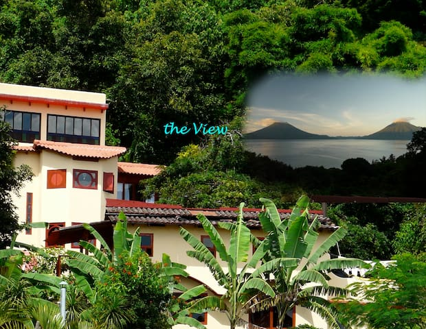 Villa Colores, View & Birdsongs Atitlanartevista - Santa Cruz la Laguna - Casa