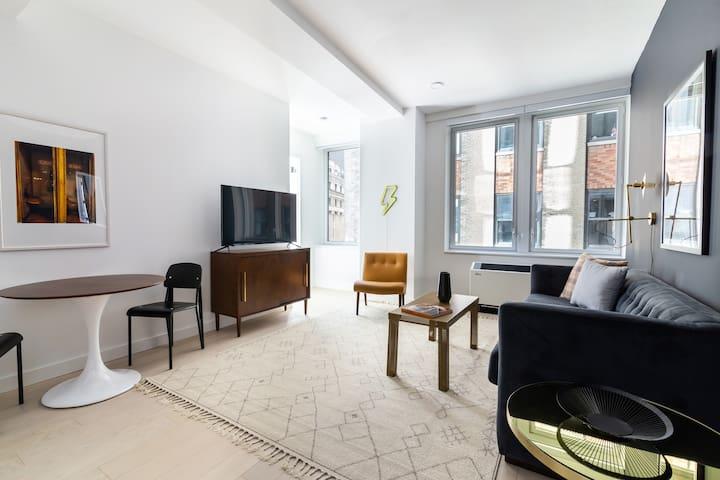 Sonder | Wall Street | Comfortable 1BR + Lounge