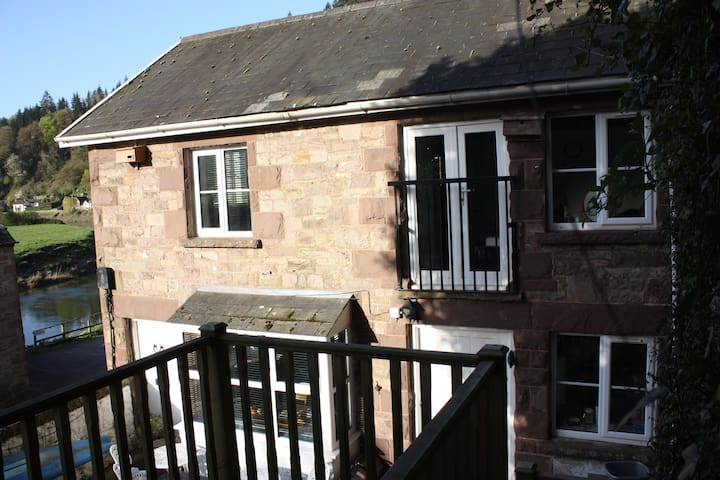 A view of the cottage from the balcony