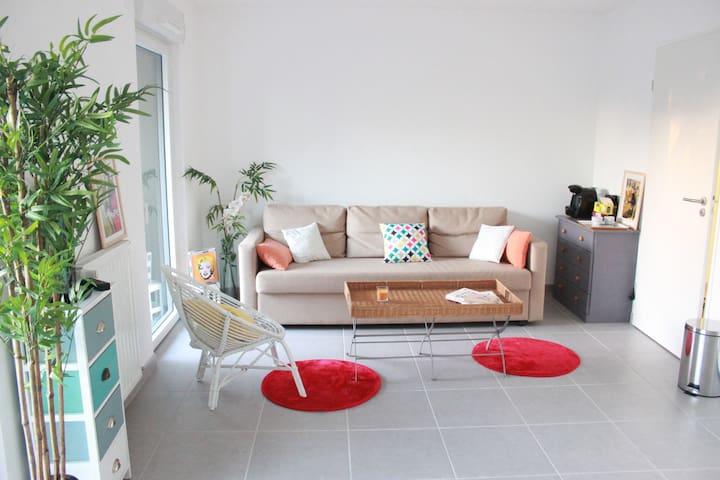 Grand T1 neuf bien situé avec terrasse de 30m2 - Nantes - Apartament