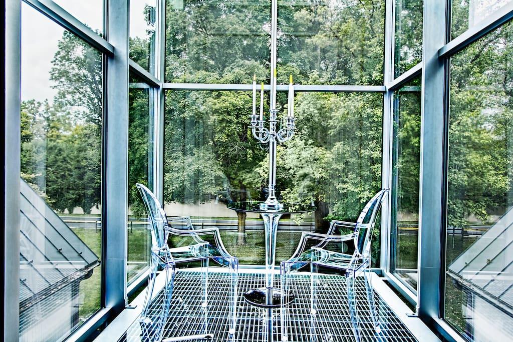 Enchanting glass tower..