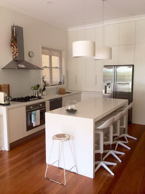 Bright modern kitchen with all the mod cons