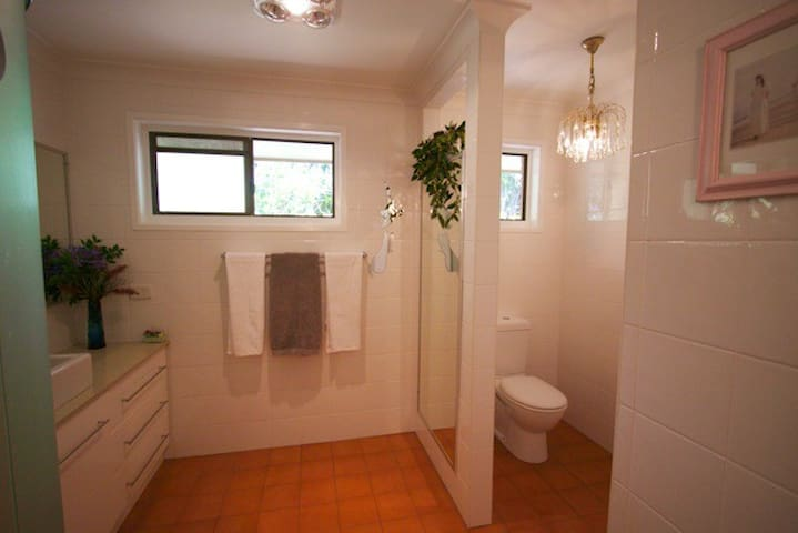 Guest private bathroom,  light and airy.