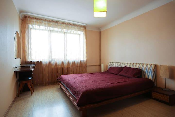 Тёплая уютная квартира рядом с остановкой