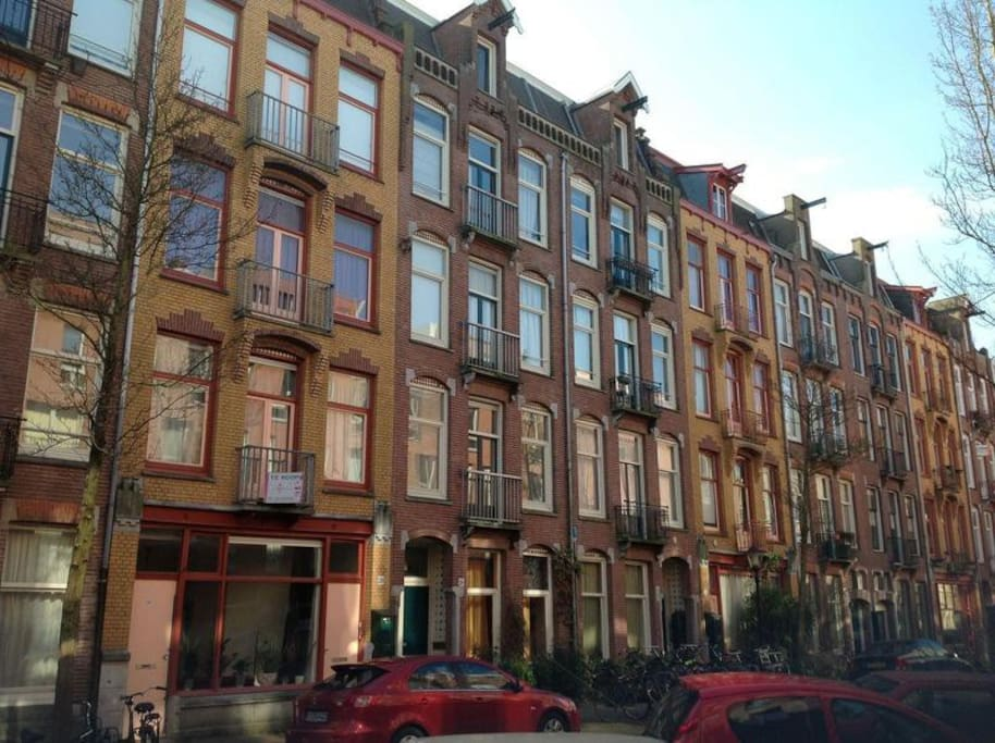 Located in a beautiful Amsterdam street.