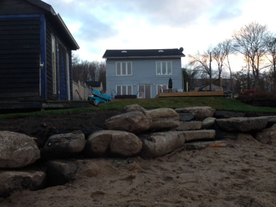 new beach and stone stairs