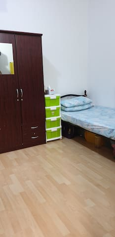 Bed space for ladies in a spacious room,
