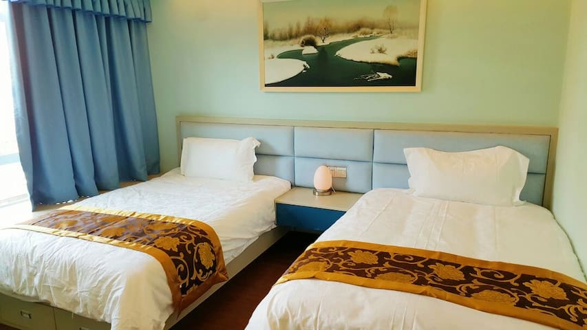 guestroom,two 1.2x2.0beds