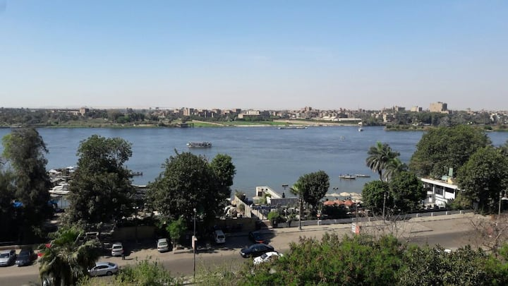 opened special view sur nile and giza pyramids