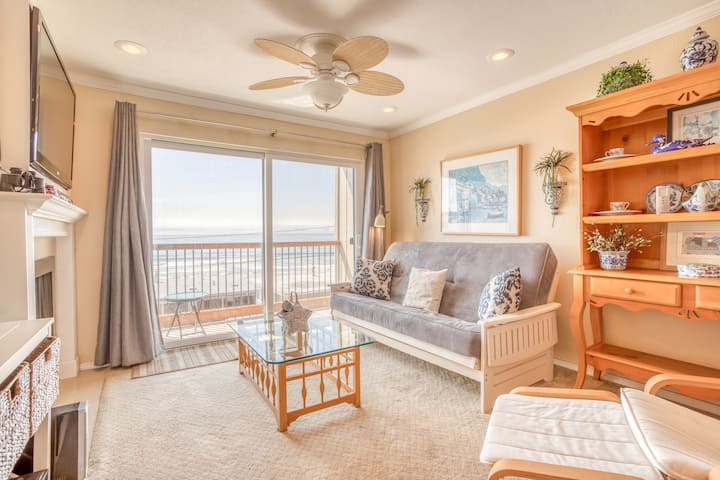 Community Pool, Hot Tub and Beach Access in This Second-Floor Oceanview Condo