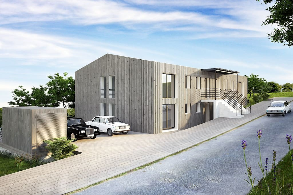 This is what the house will look like from the outside