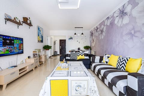 会展中心105平米现代北欧风格新装修,二居室舒适温馨
