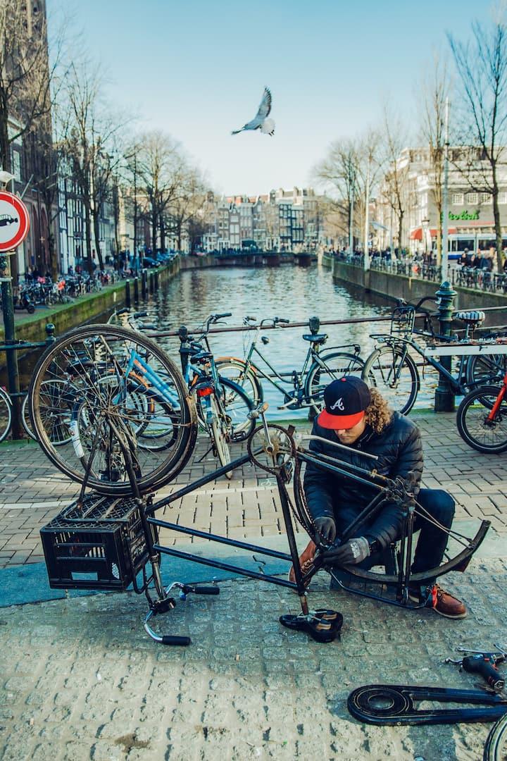 Explore the life of a bike mechanic