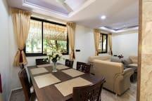 Living room + dining