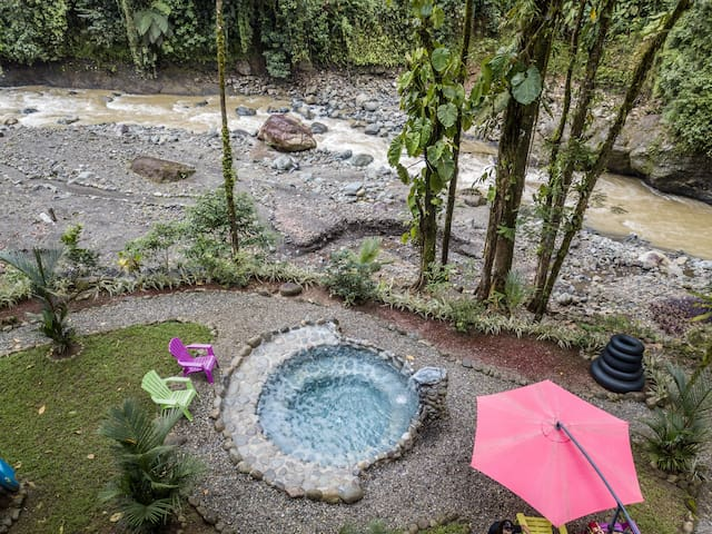 Private Riverfront Rainforest Retreat with Pool!