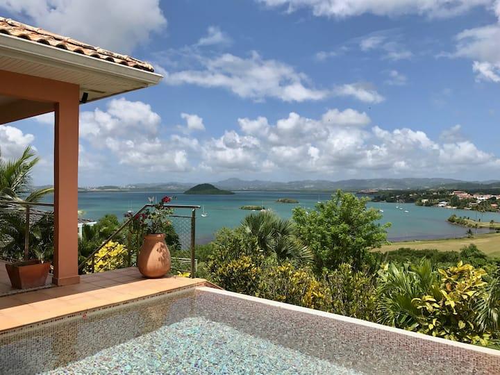 Villa standing 6 pers, 3 chambres, vue mer et golf