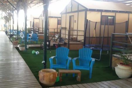 5 stars Camping Family Room   - Eli-Ad - กระท่อม
