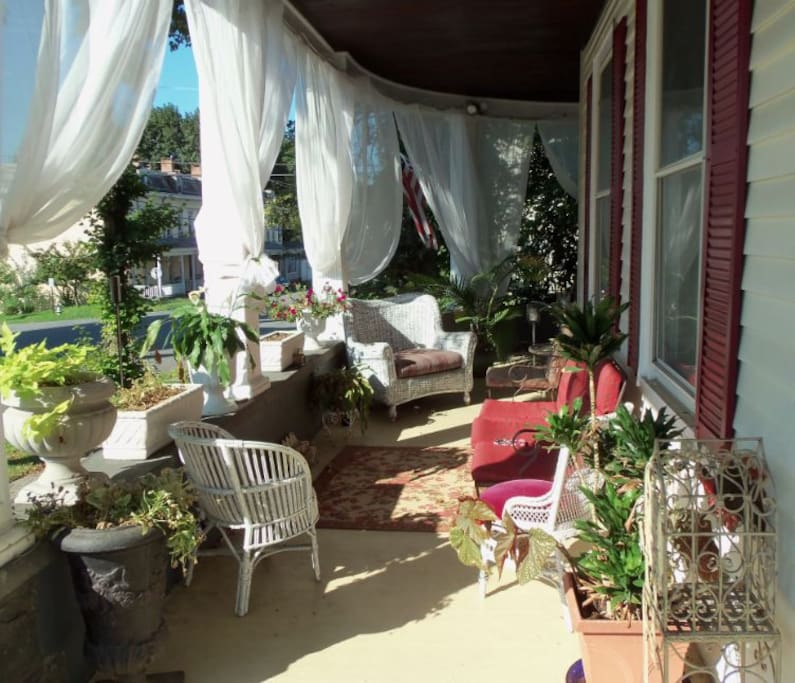 Take a mini-vacation on the wrap around porch!