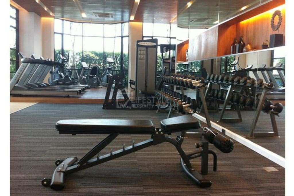 Gym at the facilities floor.