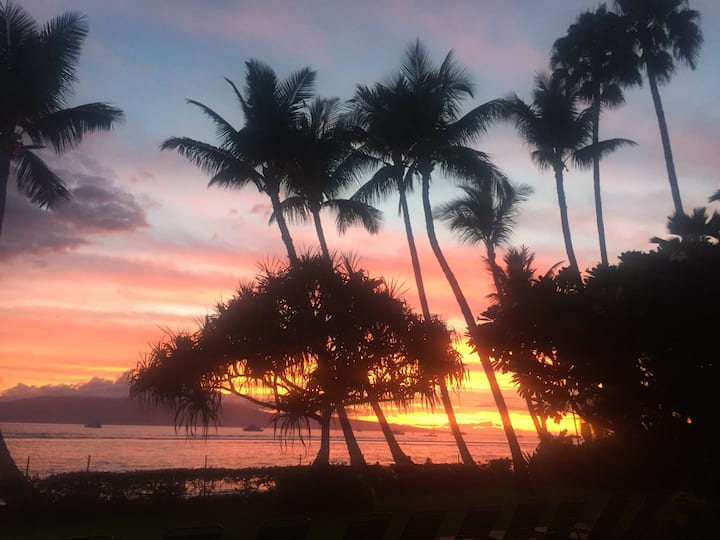 Lahaina Shores, beachfront property+AC