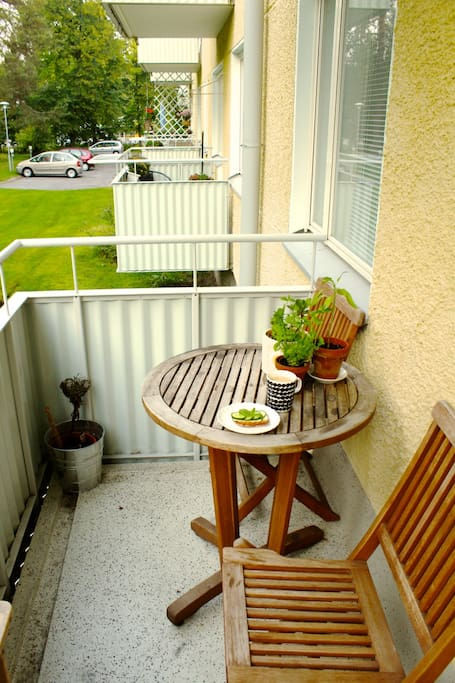 Our balcony - perfect spot to enjoy your breakfast (when it is summer)