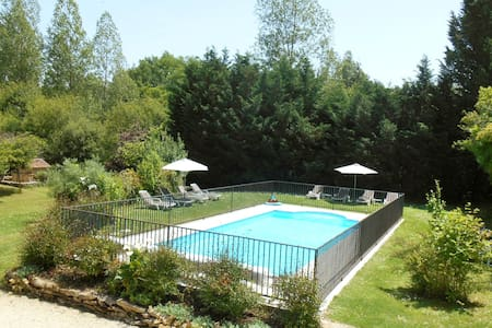 GITE + HEATED POOL AND LAKE SARLAT - Sergeac - Haus